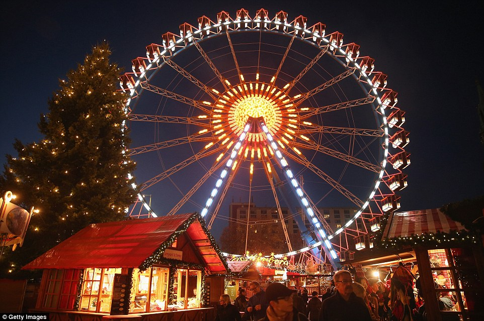 A wheely good time: Berlin hosts more than 60 different Christmas markets of all sizes, including a large one at Alexanderplatz
