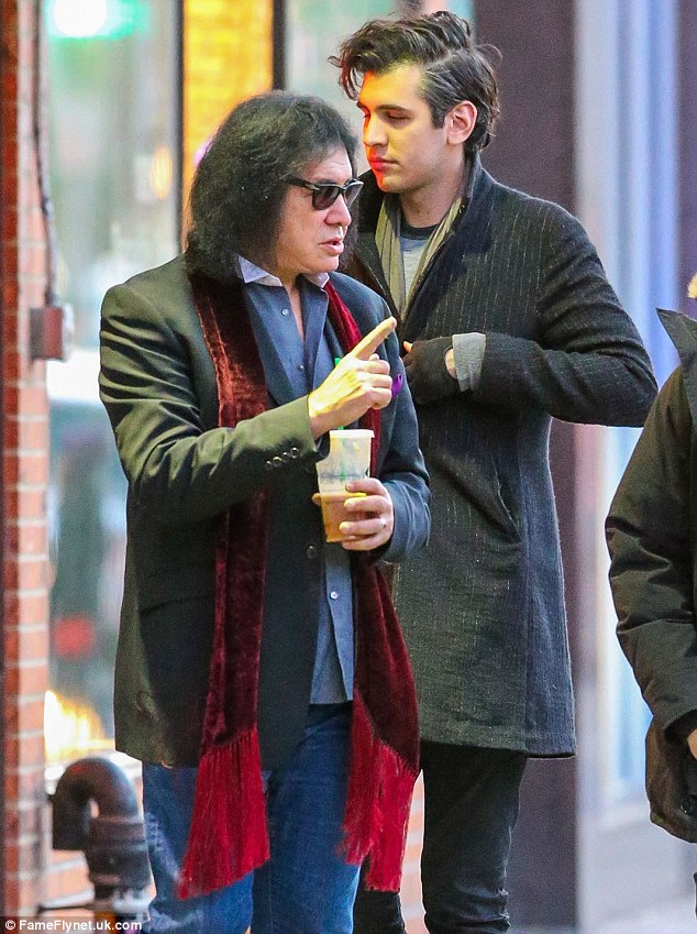 Gene Simmons And Son Nick Go Shopping In New York Daily