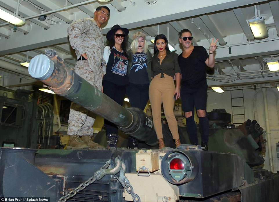 And the whole crew: The reality star brought her glam squad along for the fun and they happily joined in for the photos