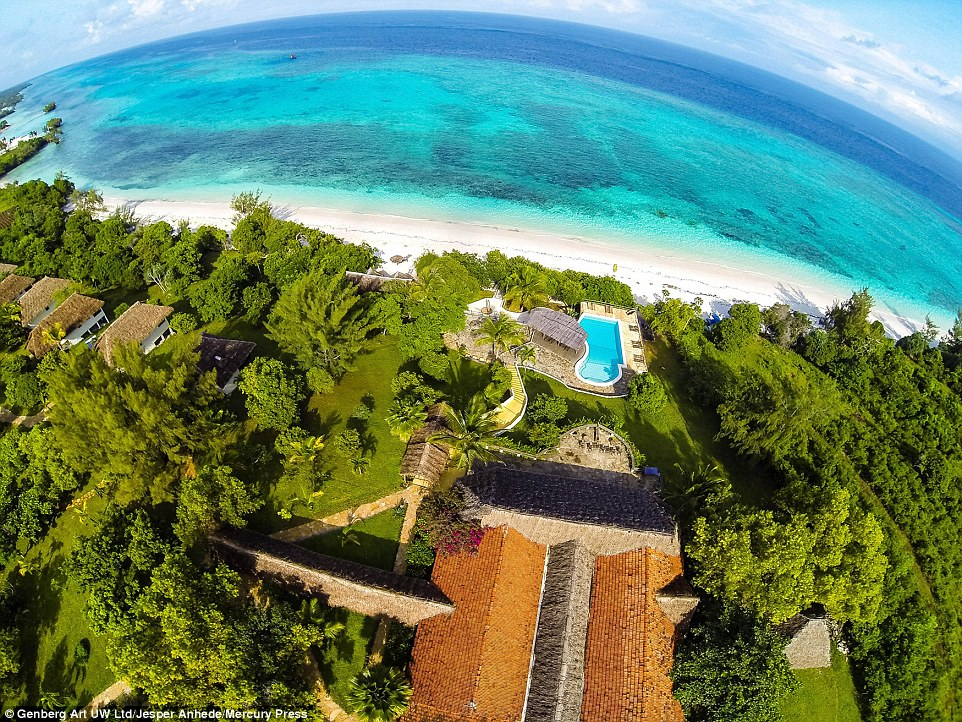 The special underwater hotel is located off the island of Pemba, which can be reached easily by boat for further exploring