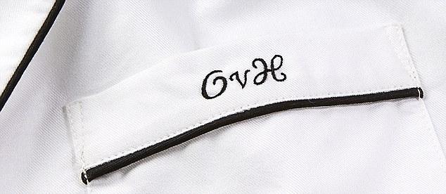monogrammed silk pajamas