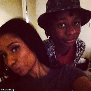 Sisterly love: Nicki raps about her desire for her younger brother Micaiah to attend college