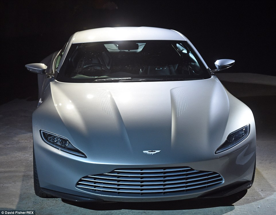 Smooth ride: The sleek new Aston Martin DB10 was also unveiled at the official photocall and will be the car of choice for the super suave spy