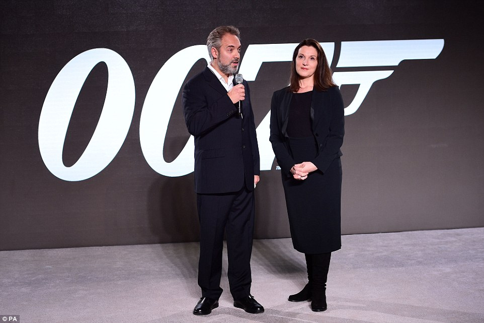 Big promises: Sam said the new film would have 'everything you would expect from a Bond movie but, in terms of the last movie, maybe a little more variety, global, maybe a little more mischief, and hopefully we can tell a story that is fit to stand alongside the others'