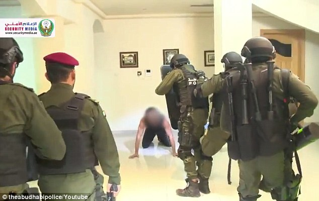 Stopped: The team also found a man inside the home during the raid but he was not arrested