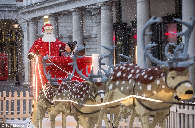 Santa Sleigh And Rudolph