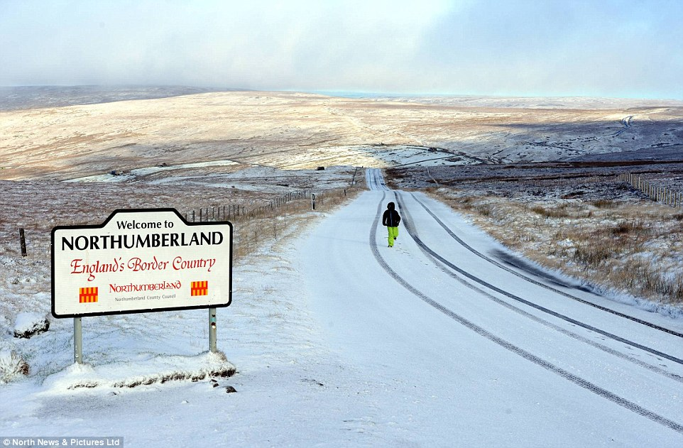 White blanket: Widespread snow and gale-force winds are forecast for early next week, with a cold air front bringing 'wet and windy' weather