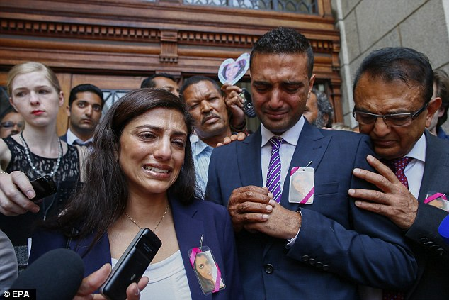 Anguish: Anni Dewani's sister Ami weeps yesterday as she talks about the decision to free Shrien Dewani