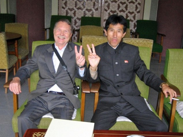 Don Parrish and North Korean Security Man Each Declare Victory in Hyangsan, North Korea in 2005