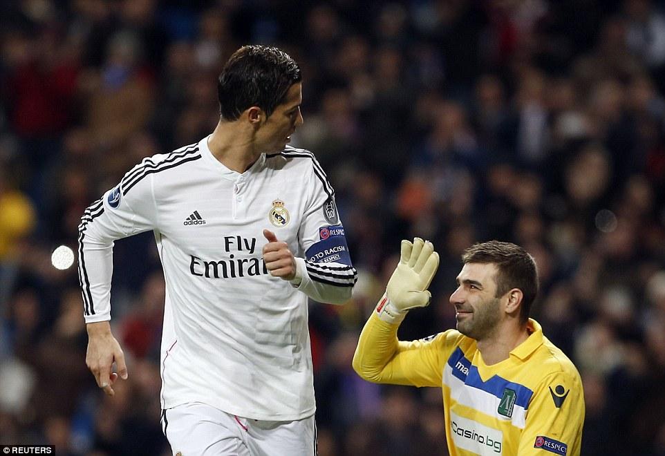 Real Madrid 40 Ludogorets Cristiano Ronaldo Surpasses
