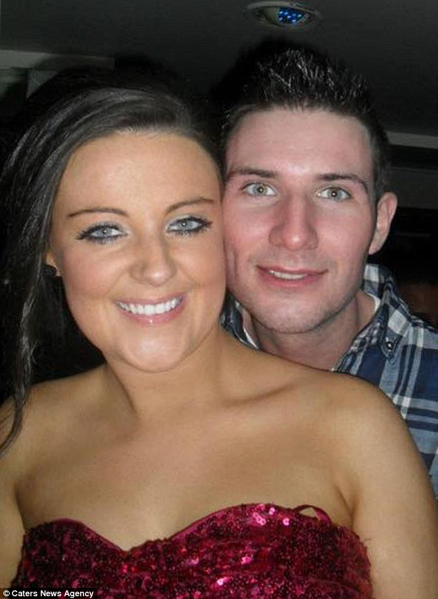 Her family recall how she loved Christmas and would always nag them to put decorations up early. She is pictured (left) with boyfriend Matt (right) on Chrismas 2012, before she was diagnosed with cancer