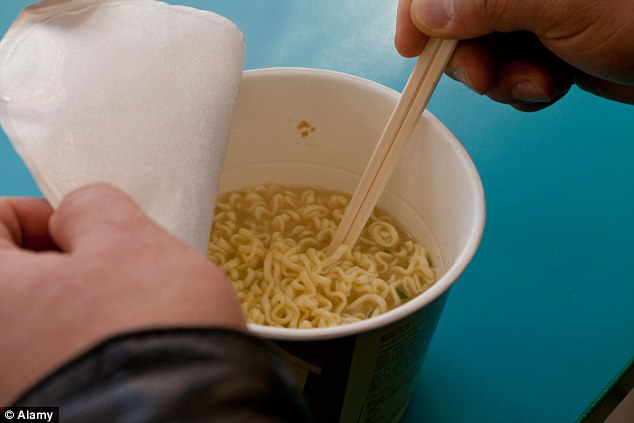 Chinese media reported that instant noodles were thrown at the flight attendant along with the hot water