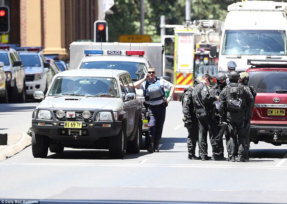 Emergency services have shut down the area surrounding Martin Place as they continue the operation