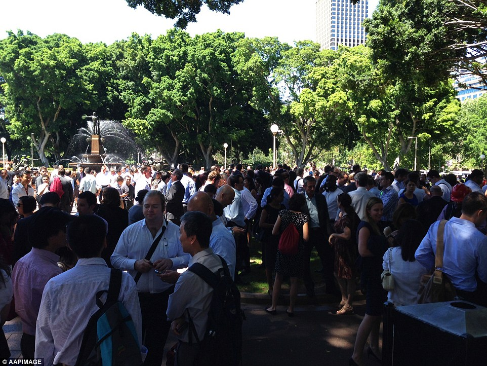 Thousands of office workers have relocated from Martin Place to Sydney's Hyde Park