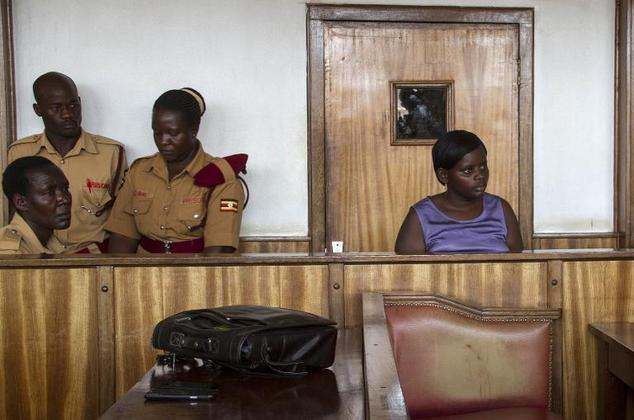 Ugandan nanny Jolly Tumuhiirwe, 22, attends a hearing in her trial at the Buganda Road court in Kampala on December 15, 2014. Tumuhiirwe was sentenced to fou...