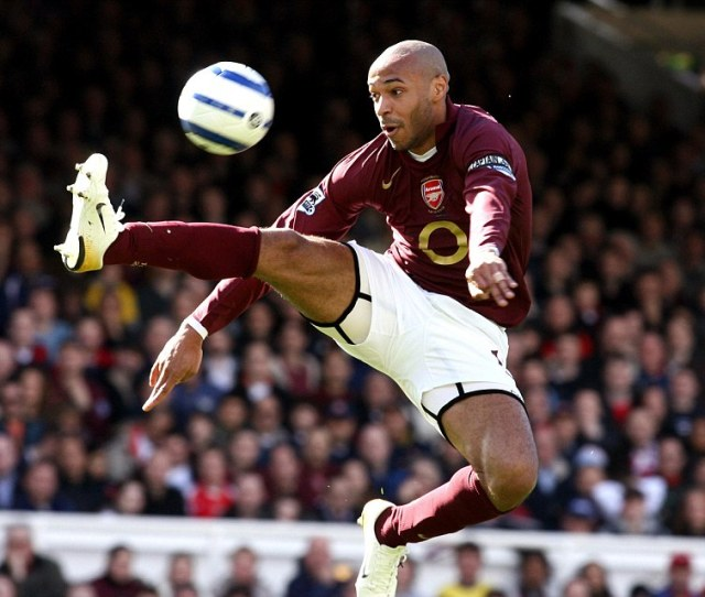 Thierry Henry Seen Here For Arsenal In  Has Announced His Retirement From Playing