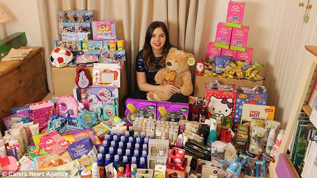 Her bargain hunting is so successful she's managed to donate £1,000 worth of presents to her local hospital