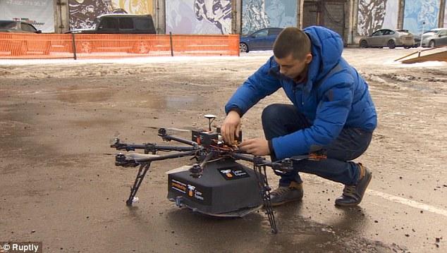 Resultado de imagem para drone pizza