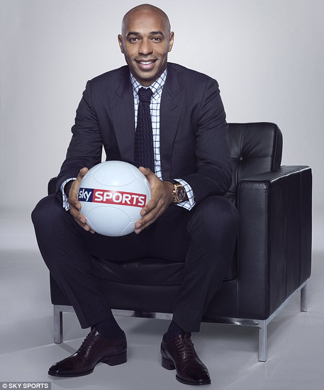 Henry has joined Sky Sports with Jamie Redknapp, Jamie Carragher, Gary Neville, Graeme Souness and Co