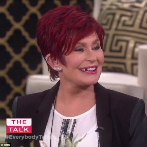 Uh oh! Sharon Osbourne lost her front tooth during a live taping of her show The Talk on Tuesday