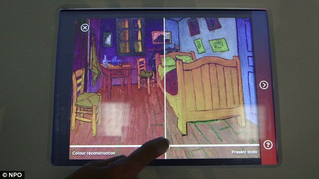 Experts used computer reconstructions to boost the red in Van Gogh's paintings to see how they would have originally looked before they faded under the bright lights that has caused the red pigment to degrade