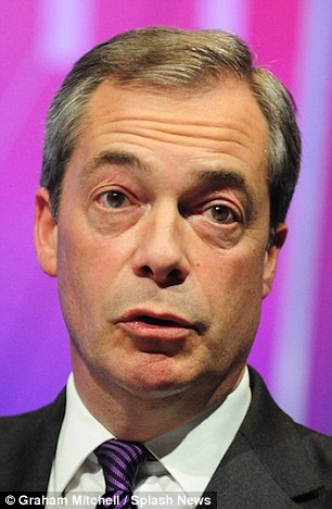 UKIP leader Nigel Farage has been compared to Jesus by one of the party's candidates