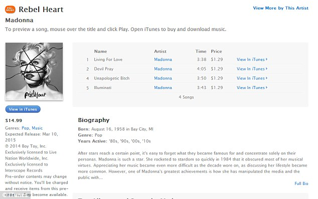 Madonna Pulls A Beyonce! Released Six New Songs From Her 13th Studio Ablum On itunes