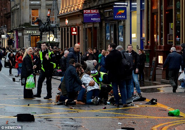 Bystanders rushed to help those knocked down by the lorry before emergency services arrived