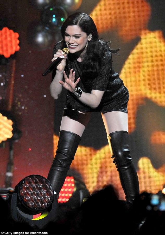 Jessie J Displays A Hint Of Thigh At Final Jingle Ball