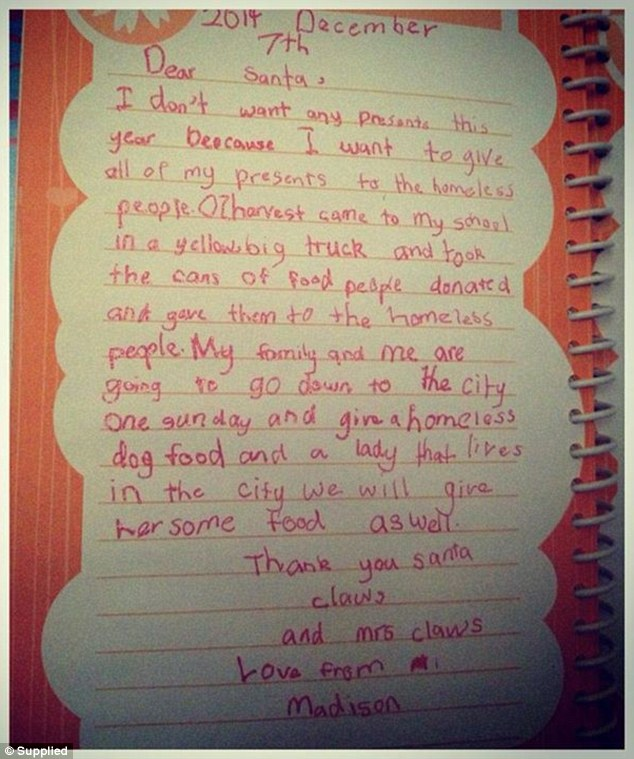 Sydney Girl Writes Letter To Santa Telling Him To Give Her