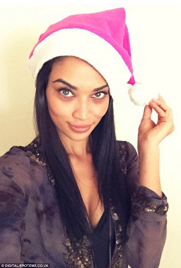 Mrs Claus: Shanina has flown from New York where she now resides to be with her family for Christmas in Melbourne