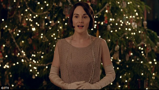Who knew? Lady Mary knocks out a Christmas carol to the guests at the Downton party
