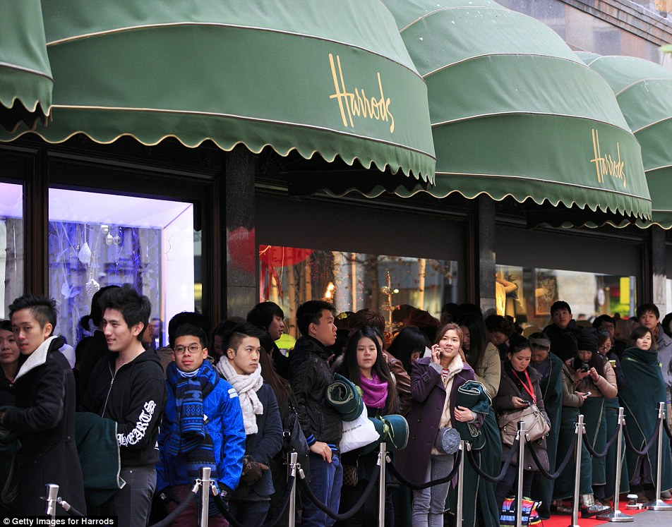 Image result for chinese shopping harrods