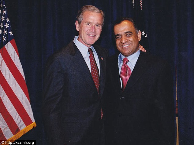Heavy-hitter: The house is owned by Dr Munr Kazmir, a major GOP donor and the CEO of several healthcare companies. Police say he had no knowledge of what was going on in his property. Dr Kazmir raised more than $200,000 for President George W. Bush's 2004 reelection campaign