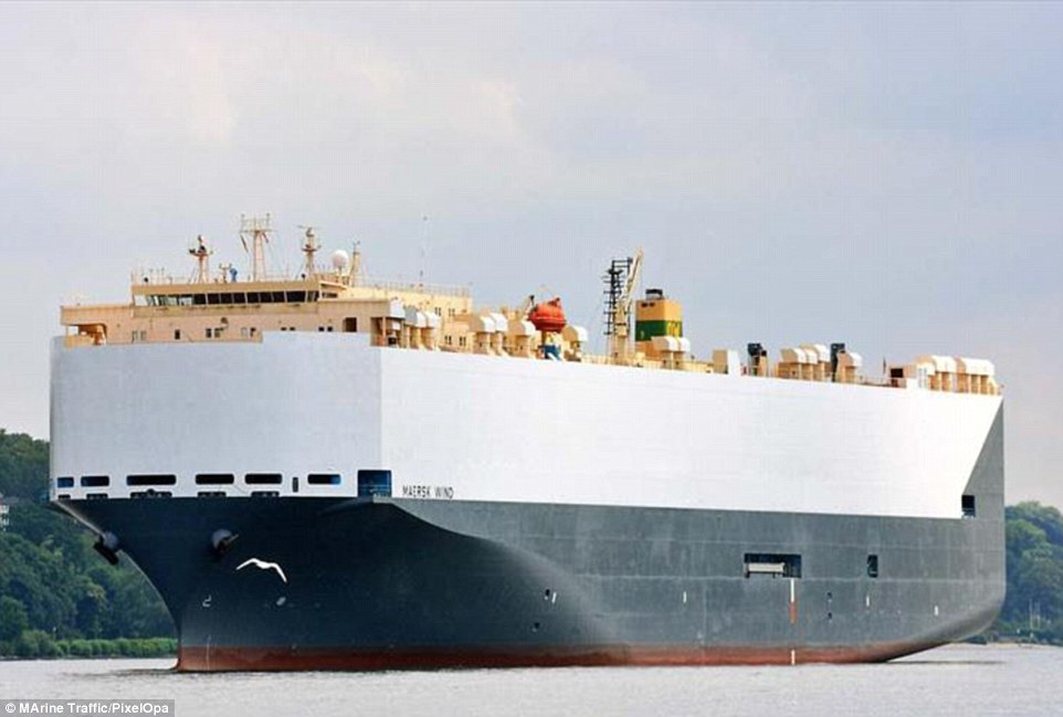 The 180-metre long Singapore registered car transporter was en-route to Bremerhaven in Germany