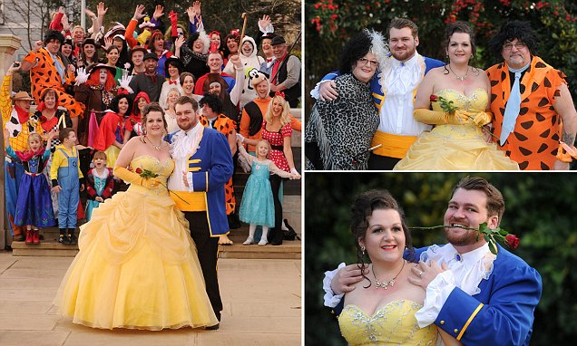 Disney-mad Couple Dress As Beauty And The Beast For Themed