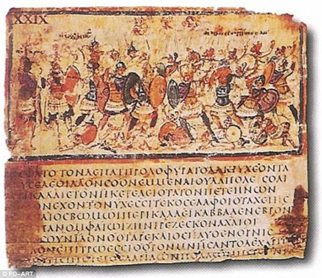 Conturile timpurie scrise ale Iliada, ca aceasta 5 sau 6 codex Century în Ambrosiana Biblioteca din Milano, sunt foarte rare și poveștile se crede ca au fost transmise de povestitor orală de sute de ani