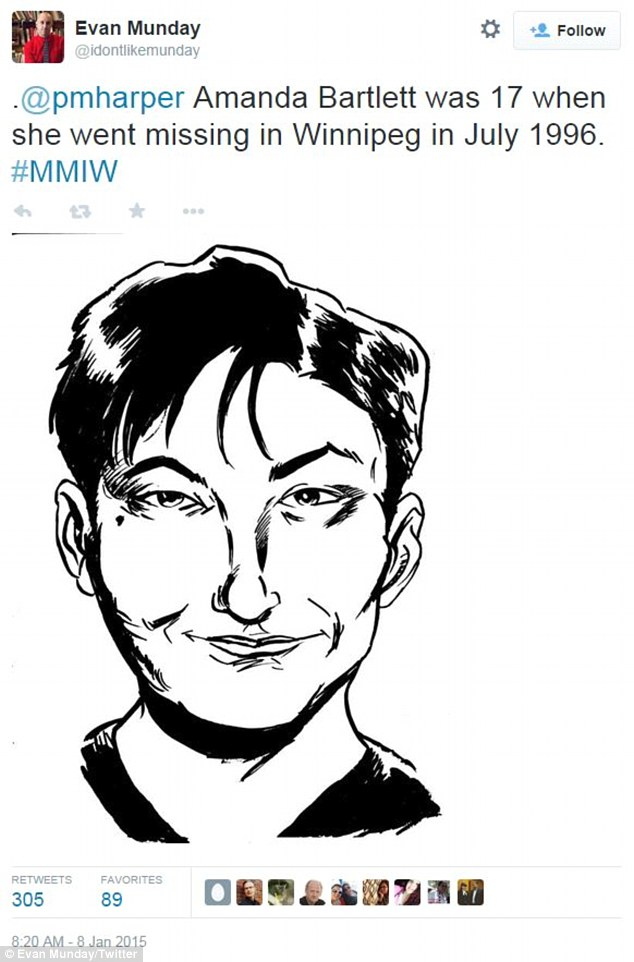 Illustrator Evan Munday tweets a sketch of missing