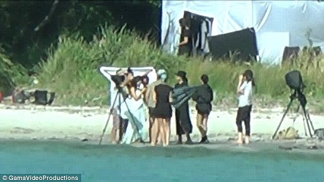 Mystery photo shoot: When Kim was Down Under last November she was spotted on a mystery photo shoot in Jervis Bay, which it is now known to be the Vogue cover shoot