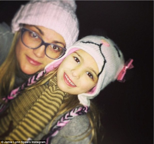 Her little princess: Jamie Lynn shared a photo with six-year-old daughter Maddie on New Year's Eve