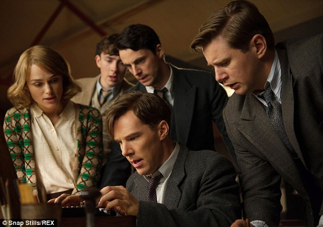 Rave reviews: Benedict has been lauded for his turn as famous mathematician and WWII code-breaker Alan Turing in The Imitation Game