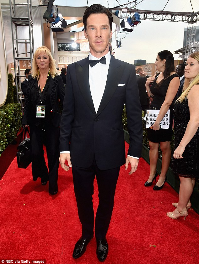 Proud: Benedict Cumberbatch was overjoyed to receive a Best Actor Oscar nomination on Thursday