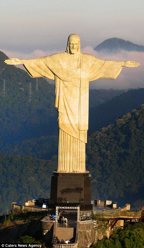 The Christ the Redeemer statue in Rio de Janeiro