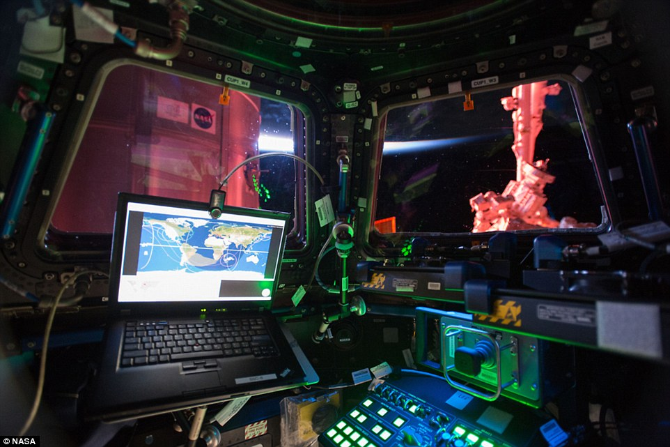 NASA Photograph Shows Interior View Of ISS Cupola Module