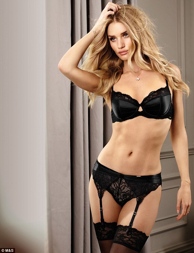Rosie Huntington Whiteley Shows Off Her Stunning Figure In