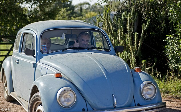 President Mujica and his wife are well-known for their humble lifestyle. Mujica once declared that his 1987 Volkswagen Beetle - a symbol of his famously austere lifestyle - was his only asset