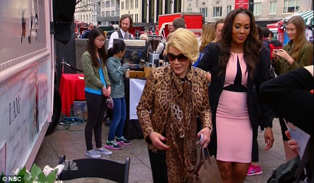Special guest: The late Joan Rivers made a special appearance as a guest judge on the episode