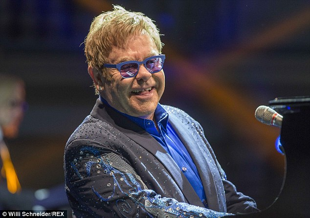 New venture: The TV pilot will be a first for Elton, who has previosuly dabbled in theatre with Billy Elliott