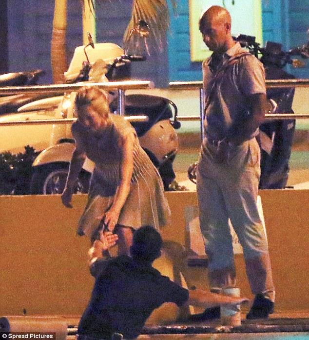 Laurene Powell And Adrian Fenty Take Island Shopping Trip