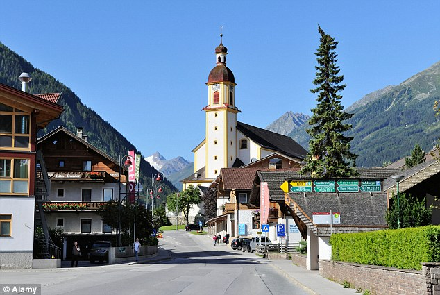 Accused: A British soldier has been charged with raping a six-year-old girl at her home in the village of Neustift im Stubaital (pictured) in the Tyrol region of the Austrian Alps